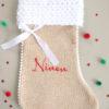 Botte chaussette Noël Ninon rouge