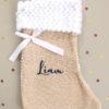 Botte chaussette de Noël Liam bleu marine