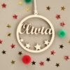 Boule de Noël étoiles ajourées Olivia