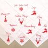 Serviettes de table Noël rouge
