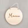 Pancarte médaillon en bois à personnaliser 12cm