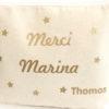 """Trousse Pochette étoiles """"MERCI"""" personnalisable"""