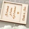 Carte polaroid en bois gravé avec texte de votre choix