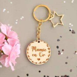 Porte-clés étoile couronne cœur personnalisable