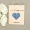 Carte en bois à personnaliser cœur au crochet