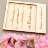 Carte en bois polaroid MAMAN à personnaliser