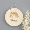 Médaillon plaque de porte arc en ciel Yanis
