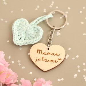 Porte-clés cœur personnalisable cœur crochet