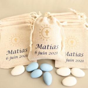 Pochons croix lumineuse bicolore Matias